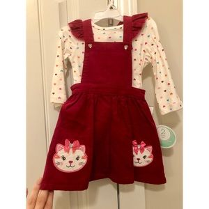 Nannette Baby Burgundy Cat Jumper